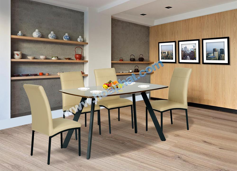 Bộ bàn ghế khung thép B50, G50 | Bàn ghế ăn cao cấp Hòa Phát