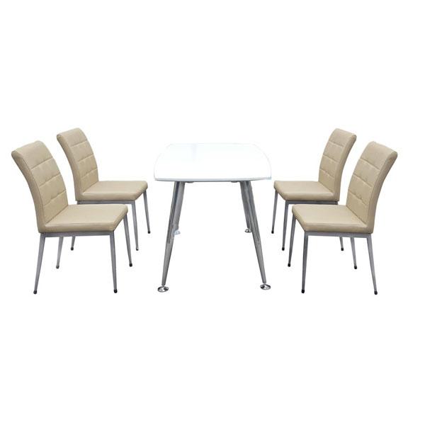 Bộ bàn ghế ăn gia đình B68-Trắng,G68 | Bàn ghế phòng ăn Hòa Phát