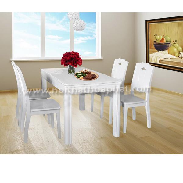 Bộ bàn ghế ăn cao cấp BA118,GA118 | Bàn ghế ăn Hòa Phát