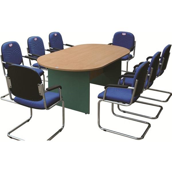 Bàn họp vàng xanh SVH1810OV | Bàn họp văn phòng Hòa Phát