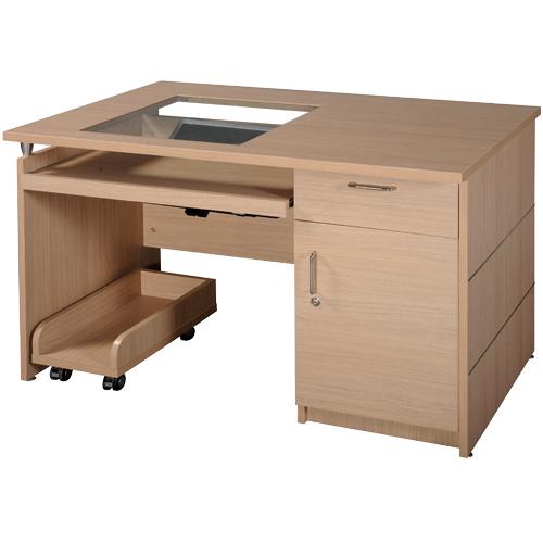 Bàn máy tính gỗ HRM120 | Bàn vi tính Hòa Phát