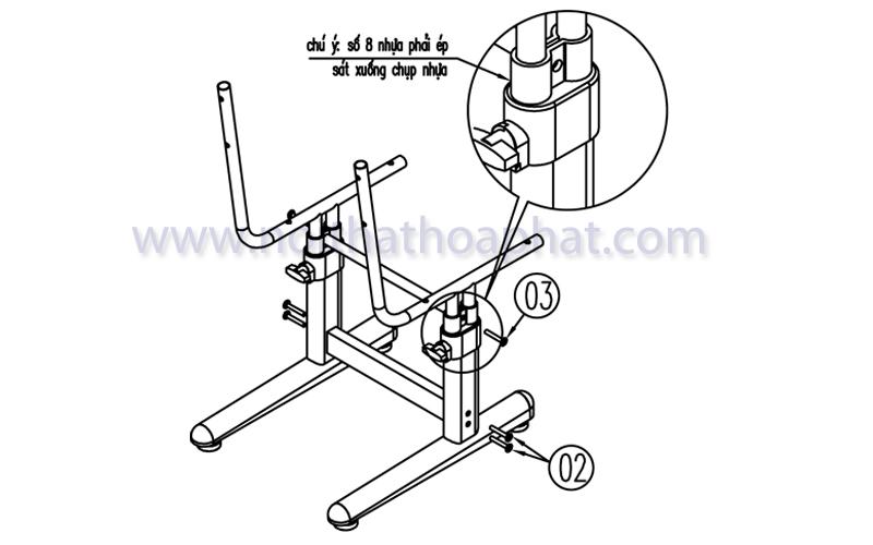 Hướng dẫn lắp đặt sản phẩm bộ bàn ghế học sinh BHS20, GHS20