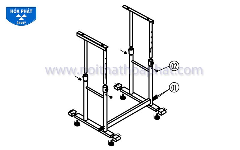 Hướng dẫn lắp đặt sản phẩm bộ bàn ghế học sinh BHS28, GHS28