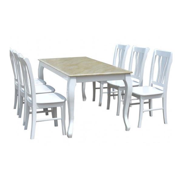 Bộ bàn ghế ăn cao cấp HGB61 | Bộ bàn ghế ăn gia đình Hòa Phát