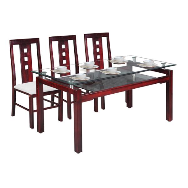 Bộ bàn ghế ăn gia đình TB09,TGA24   Bàn ghế ăn gỗ tự nhiên Hòa Phát