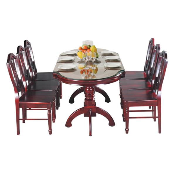 Bộ bàn ghế ăn gia đình TB10,TGA08 | Bàn ghế ăn gỗ tự nhiên Hòa Phát