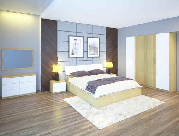 Bộ giường tủ phòng ngủ 301 | Giường tủ cao cấp Hòa Phát