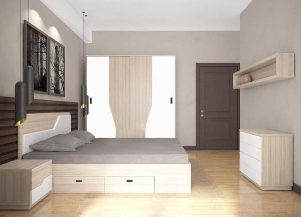 Bộ giường tủ phòng ngủ GN302 | Giường tủ cao cấp Hòa Phát