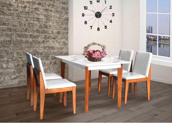 Bộ bàn ghế ăn gỗ HGB62B,HGG62 | Bàn ghế ăn cao cấp Hòa Phát