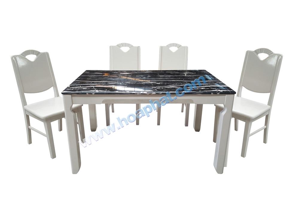 Bộ bàn ghế ăn gỗ HGB65B,HGG65 | Bàn ghế ăn cao cấp Hòa Phát