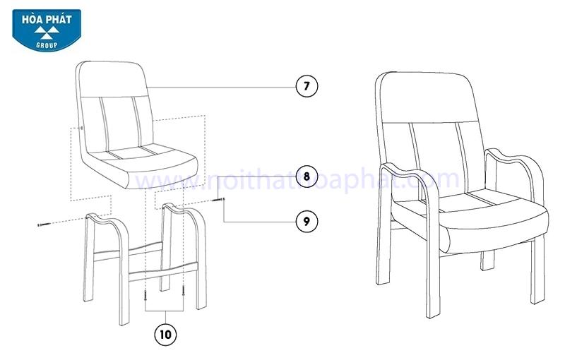 Hướng dẫn lắp đặt ghế họp GH02