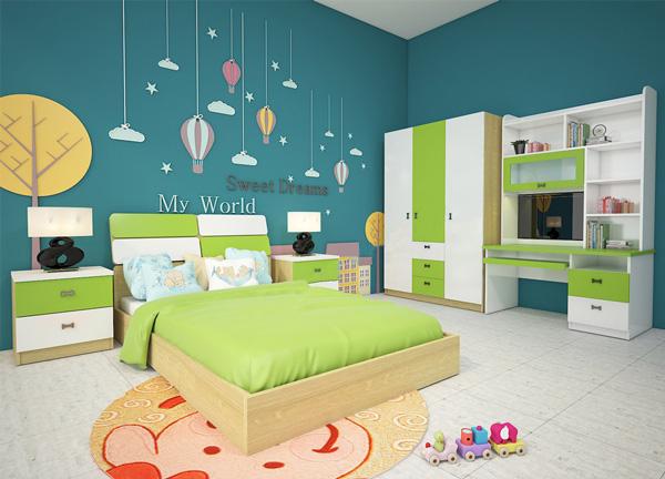 Bộ giường tủ phòng ngủ trẻ em GNE301 | Giường tủ cao cấp Hòa Phát