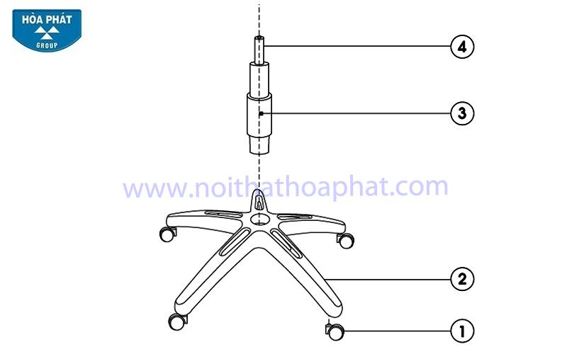 Hướng dẫn lắp đặt ghế lưới GL101