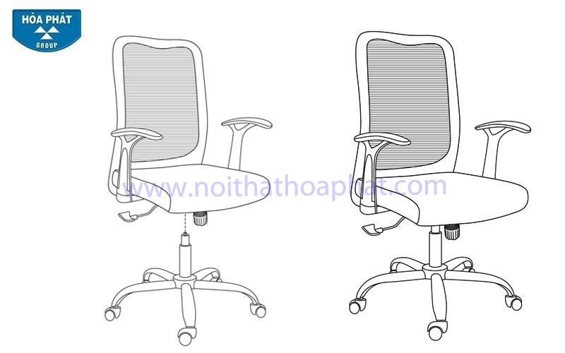 Hướng dẫn lắp đặt ghế lưới GL206