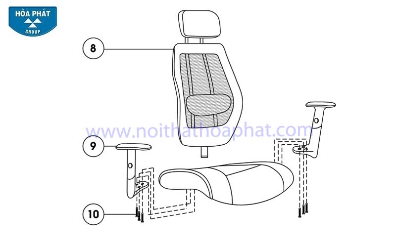 Hướng dẫn lắp đặt ghế lưới GL309
