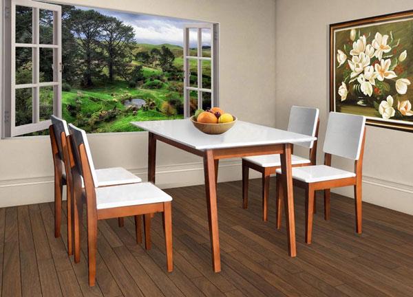 Bộ bàn ghế ăn gỗ HGB63B,HGG63 | Bàn ghế ăn cao cấp Hòa Phát