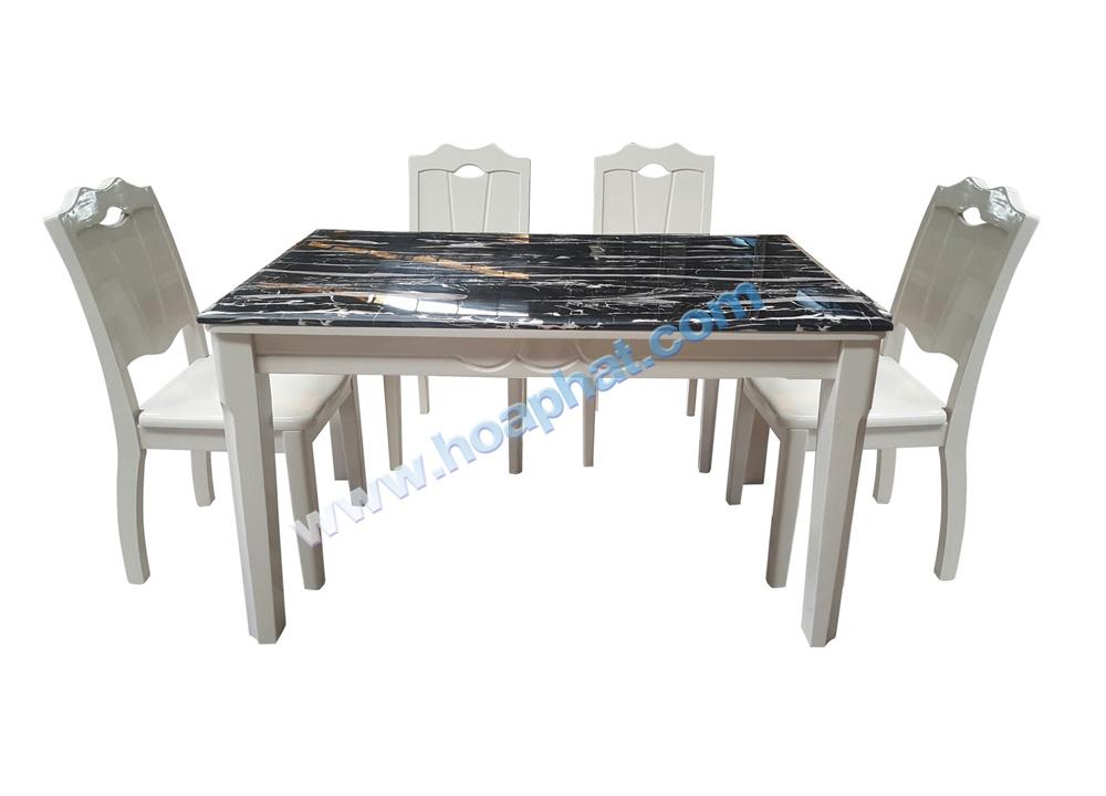 Bộ bàn ghế ăn gỗ HGB66A, HGG66 | Bàn ghế ăn cao cấp Hòa Phát