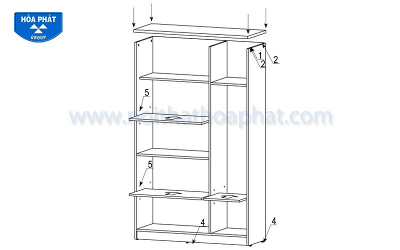 Hướng dẫn lắp đặt sản phẩm tủ tài liệu gỗ HP1960-3B