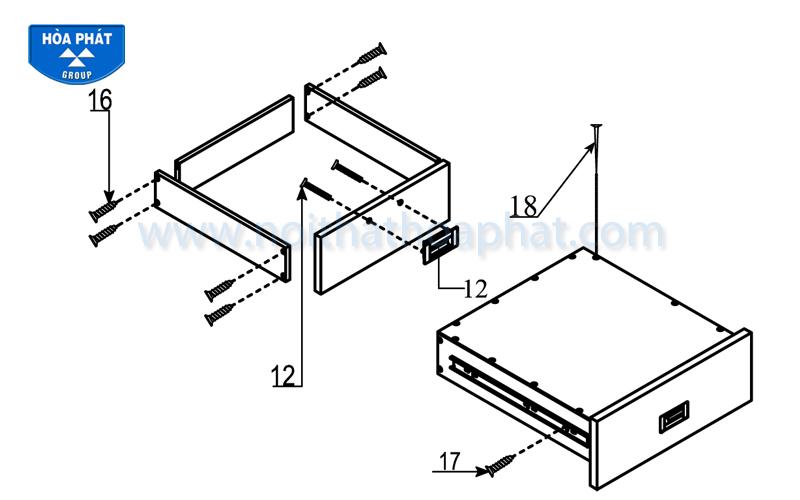 Hướng dẫn lắp đặt sản phẩm bàn làm việc HR1200SHL,HR120HL, HR140HL