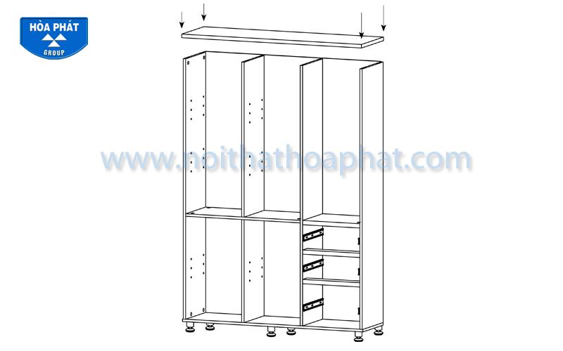 Hướng dẫn lắp đặt tủ tài liệu HR1960-3B