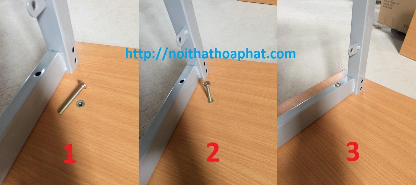 liên kết gỗ và khung thép bàn ghế học sinh hòa phát