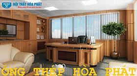 công trình nội thất hòa phát tại văn phòng ống thép hòa phát