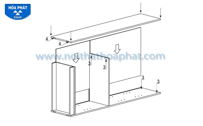 Hướng dẫn lắp đặt tủ tài liệu gỗ NT1960GA