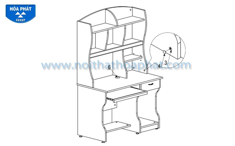Hướng dẫn lắp đặt sản phẩm bàn liền giá sách NTB01A