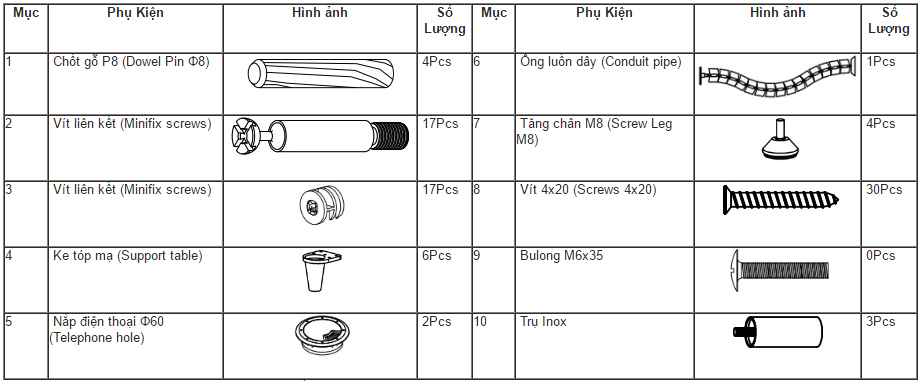 Hướng dẫn lắp đặt sản phẩm bàn trưởng phòng Royal HRP1890