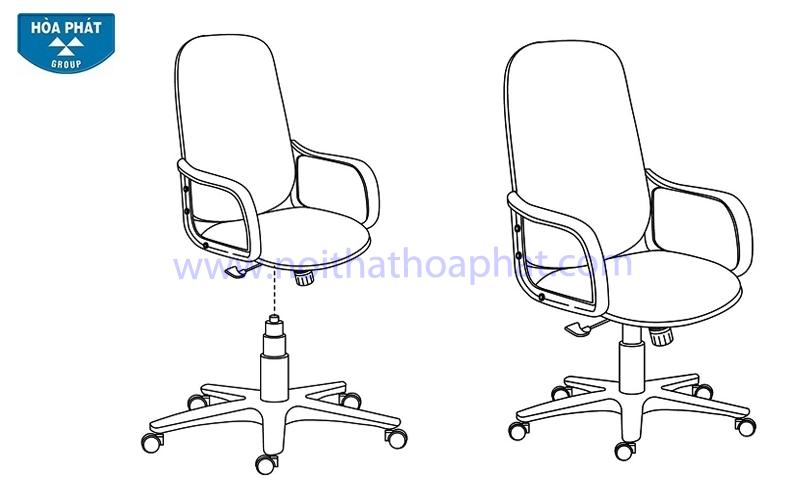 Hướng dẫn lắp đặt ghế xoay SG216