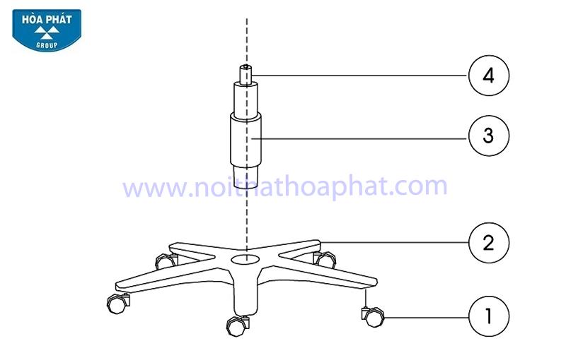 Hướng dẫn lắp đặt ghế xoay SG350