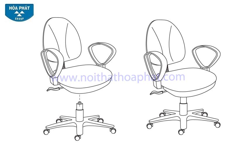 Hướng dẫn lắp đặt sản phẩm ghế xoay văn phòng SG550