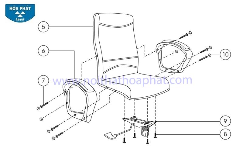 Hướng dẫn lắp đặt sản phẩm ghế xoay văn phòng SG704