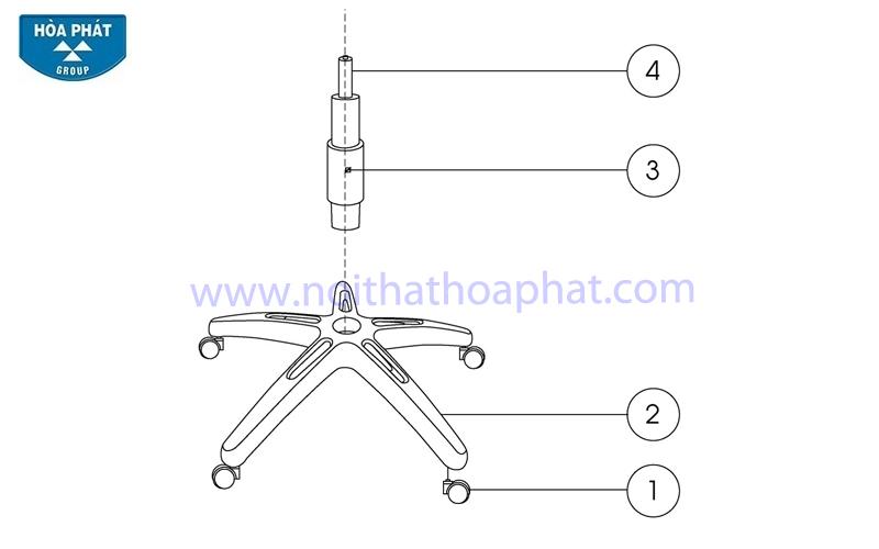 Hướng dẫn lắp đặt sản phẩm ghế xoay văn phòng SG712