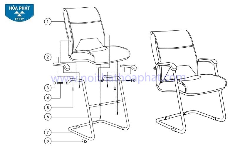 Hướng dẫn lắp đặt sản phẩm ghế họp chân quỳ SL718