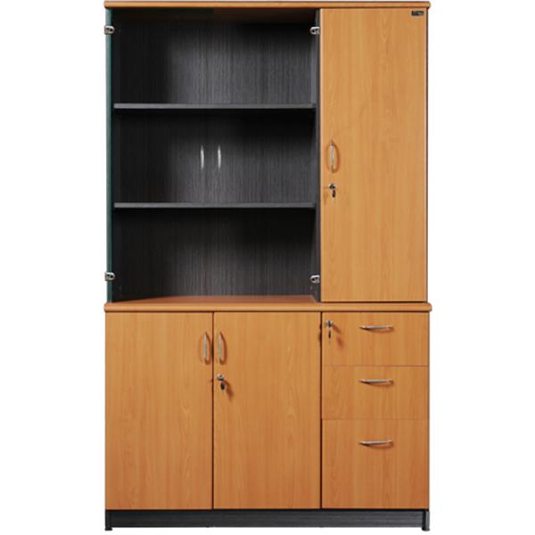 Tủ tài liệu gỗ NT1960-3B3N | Tủ gỗ Hòa Phát | Tủ văn phòng