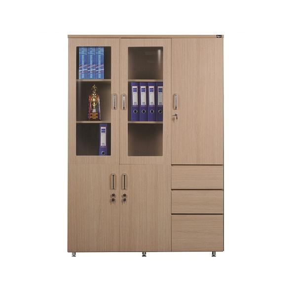 Tủ tài liệu gỗ HR1960-3B | Tủ gỗ Hòa Phát | Tủ văn phòng
