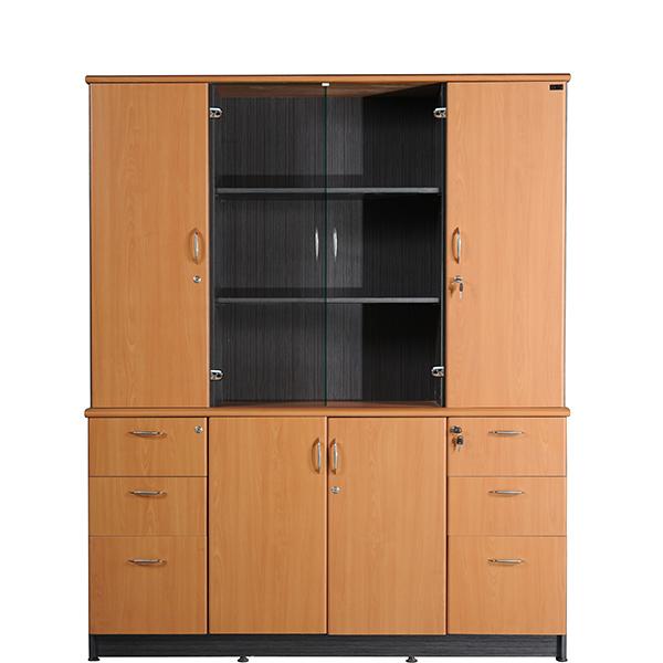 Tủ tài liệu gỗ NT1960-4B | Tủ gỗ Hòa Phát | Tủ văn phòng