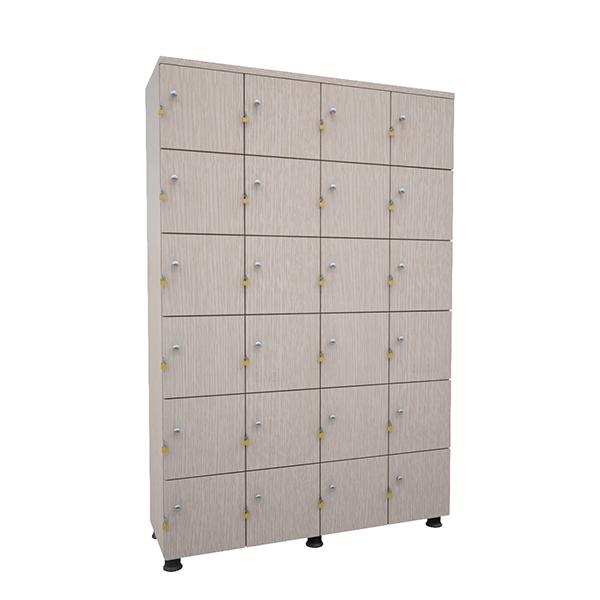 Tủ locker gỗ tai khóa ngoài TUG24 | Tủ locker gỗ 24 ngăn