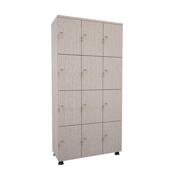 Tủ locker gỗ tai khóa ngoài TUG12 | Tủ locker gỗ 12 ngăn