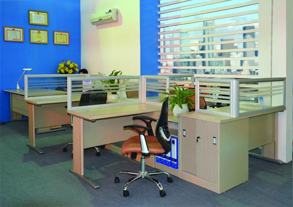 Vách ngăn văn phòng VN04 | Vách ngăn gỗ Hòa Phát